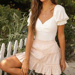 Romantic Inclination Ivory Ribbed Knit Puff Sleeve Bodysuit   Lulus (US)