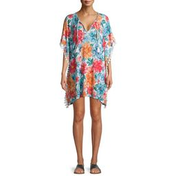 Time and Tru Novelty Rib Caftan Swimsuit Cover Up   Walmart (US)
