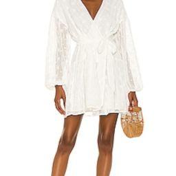 MINKPINK Jessika Drop Waist Mini Dress in White from Revolve.com | Revolve Clothing (Global)