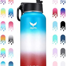 Vmini Water Bottle with New Wide Handle Straw Lid, Wide Mouth Vacuum Insulated 18/8 Stainless Ste...   Amazon (US)