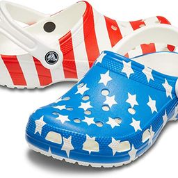 Crocs Men's and Women's Classic American Flag Clog   4th of July Clogs   Amazon (US)