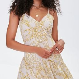 Tropical Floral Print Mini Dress   Forever 21 (US)