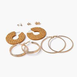 Basketwoven Hoop & Ball Stud Earring Set   Forever 21 (US)