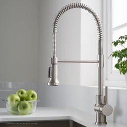 KPF-1690SFS Britt™ Pull Down Single Handle Kitchen Faucet with Optional Soap Dispenser | Wayfair North America