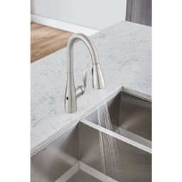 7594EWSRS Arbor Pull Down Touchless Single Handle Kitchen Faucet with MotionSense and Power Clean...   Wayfair North America