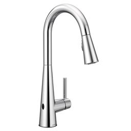 7864EWC Sleek Pull Down Touchless Single Handle Kitchen Faucet with Power Clean and Reflex   Wayfair North America
