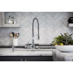 K-29106-CP Bellera Semi-Professional (three-function pull-down sprayhead) Single Handle Kitchen F...   Wayfair North America