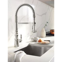 S73104 Weymouth Spring Pull Down Single Handle Kitchen Faucet with Power Boost   Wayfair North America