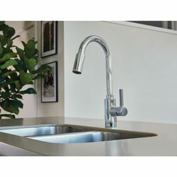 7882 Genta LX Pulldown Single Handle Kitchen Faucet with Power Boost Technology and Duralock   Wayfair North America