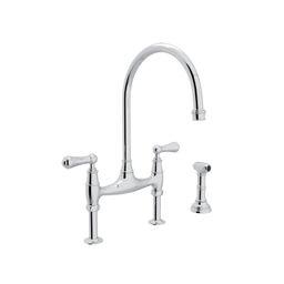 U.4719L-APC-2 Georgian Era™ Bridge Kitchen Faucet With Side Spray   Wayfair North America