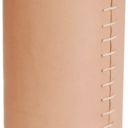 Glimpse & Hollow Blush Tan Leather Vase - Modern Vase | Flower Vase, Decorative Vase Gift | Neutr... | Amazon (US)