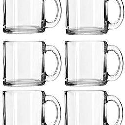 Libbey Crystal Coffee Mug Warm Beverage Mugs Set of (13 oz) (6) | Amazon (US)