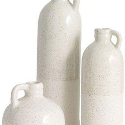 Sullivans Small Ceramic Jug Set, Farmhouse Home Decor, Set of 3 Vases, White (CM2875) | Amazon (US)