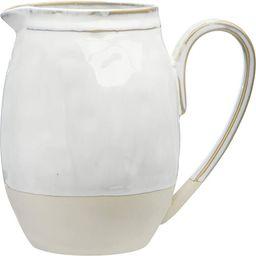 Creative Co-op DF3249 White Stoneware Pitcher | Amazon (US)
