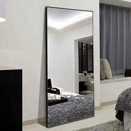 Hans Full Length Leaning Floor Mirror, Wood Finished Frame Oversized Rectangle Dressing Mirror (B... | Amazon (US)