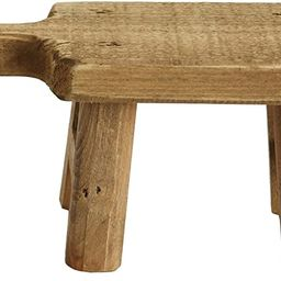 Creative Co-Op Rectangle Wood Pedestal with Handle, Small, Brown | Amazon (US)