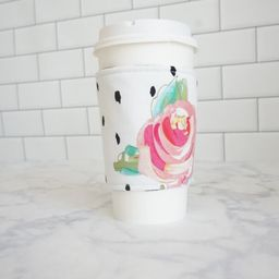 Reusable Coffee Sleeve-Pink Floral Print | Etsy (US)