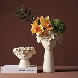Human head decorating vase Ornamenthome bedroom decorhome | Etsy | Etsy (US)