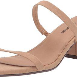 Amazon Essentials Women's Thin Two Strap Heeled Slide Sandal | Amazon (US)