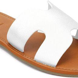 KOLILI Womens Flat Slide Sandals, Summer Fashion Sandals, Comfy Style | Warm-weather Favorite | Amazon (US)