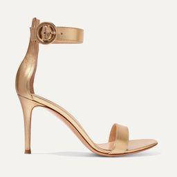 GIANVITO ROSSIPortofino 85 metallic leather sandals   Net-a-Porter (US)