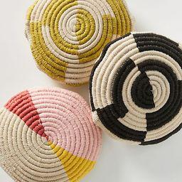 Handwoven Spiral Pillow   Anthropologie (US)