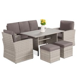 Best Choice Products 7-Seater Conversation Wicker Dining Table, Outdoor Patio Furniture Set w/ Co...   Walmart (US)