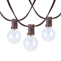 Better Homes & Gardens 110 Volts Electric 18.7 feet 20 Count G40 Clear Glass Globe Bulbs Brown Wi...   Walmart (US)