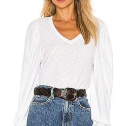 Nation LTD Tabitha Full Sleeve V Neck Top in White from Revolve.com   Revolve Clothing (Global)