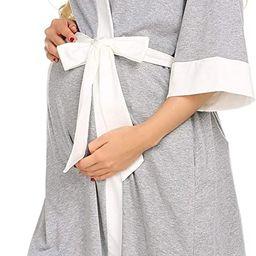 Ekouaer Maternity Nursing Robe Delivery NightgownsHospital Breastfeeding Gown | Amazon (US)