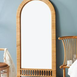 Arched Rattan Leaning Mirror | Anthropologie (US)