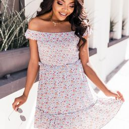 Our Endearing Love Floral Blue Dress FINAL SALE   The Pink Lily Boutique