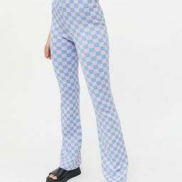 UO Checkered Knit Flare Pant   Urban Outfitters (US and RoW)