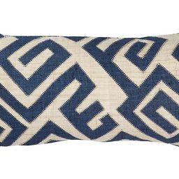 Bambala 13x26 Lumbar Pillow, Indigo/Cream   One Kings Lane