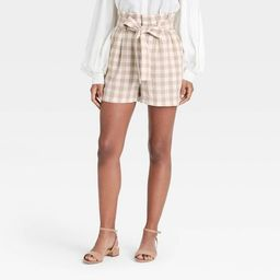 Women's High-Rise Paperbag Shorts - A New Day™ | Target