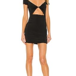 superdown Kimmie Twist Front Dress in Black from Revolve.com   Revolve Clothing (Global)