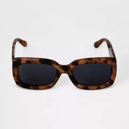 Women's Tortoise Shell Rectangle Square Sunglasses - A New Day™ Beige | Target