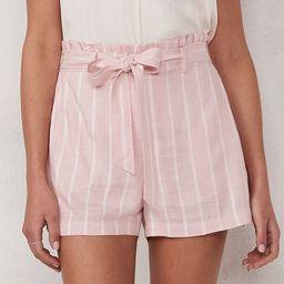 Women's LC Lauren Conrad Belted Paper Bag Shorts, Size: XXL, Pink | Kohl's