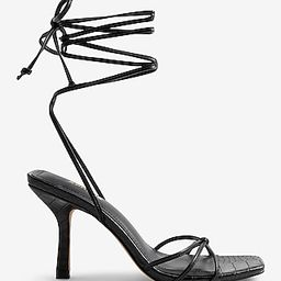 Strappy Lace-Up Heeled Sandals | Express