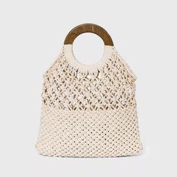 Target/Women/Women's Accessories/Women's Handbags/Shoulder BagsCircle Handle Crochet Tote Hand... | Target