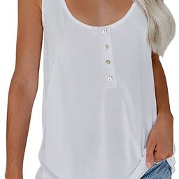 Paitluc Womens V Neck Sleeveless Tanks Shirts Summer Colorblock Cami Camisole Vest Tunic Tops S-X... | Amazon (US)