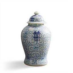 Large Chinoiserie Happiness Jar   Frontgate