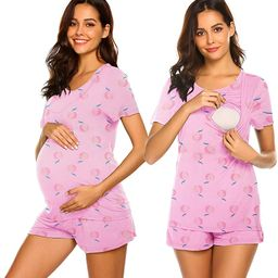 Ekouaer Labor/Delivery/Nursing Maternity Pajamas Set for Hospital Home, Basic Nursing Shirt, Adju... | Amazon (US)