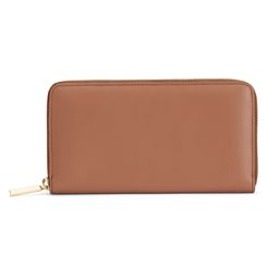 Women's Zero Waste Classic Zip Around Wallet in Smooth Caramel | Smooth Leather by Cuyana | Cuyana