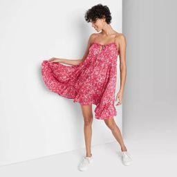 Women's Sleeveless Tie Front Breezy Dress - Wild Fable™ | Target