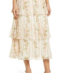 Rachel Parcell Pleated Tiered Chiffon Maxi Skirt | Nordstrom | Nordstrom
