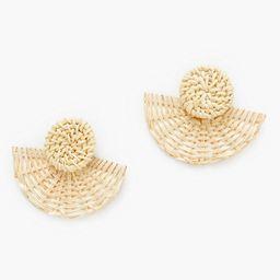 Basketweave Fan Earrings   Tuckernuck (US)