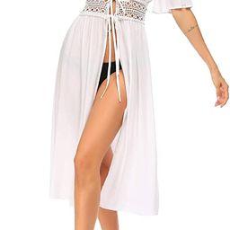 Ekouaer Women's Swimwear Cover Ups Sexy Open Front Beach Bikini Swimsuit Kimono Cardigan Long Flo...   Amazon (US)