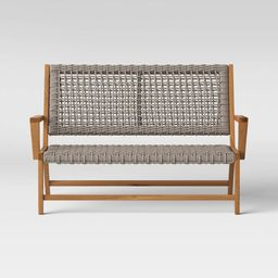 Lena Wood & Rope Patio Loveseat - Gray - Project 62™   Target