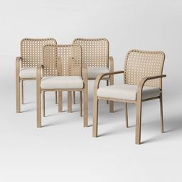 Collier 4pk Cane-Look Woven Back Patio Dining Chair - Project 62™   Target